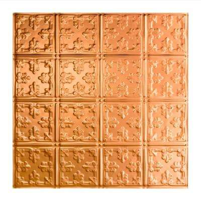 Traditional 10 - 2 ft. x 2 ft. Lay-in Ceiling Tile in Polished Copper