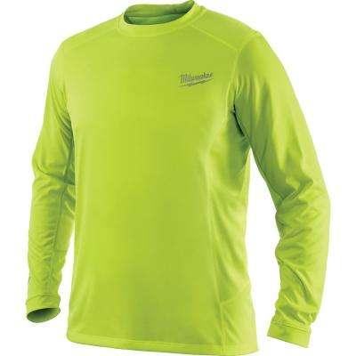 c1ae59d1150714 Men's Workskin High Visibility Yellow Long Sleeve Light Weight Performance  Shirt