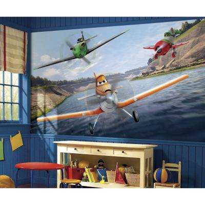 72 in. x 126 in. Disney Planes XL Chair Rail Pre-Pasted Wall Mural
