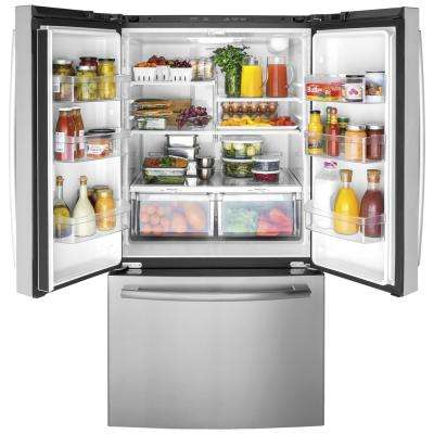 27 Cu. Ft. French-Door Refrigerator in Stainless Steel, ENERGY STAR