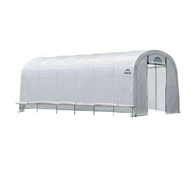 GrowIt 12 ft. x 20 ft. x 8 ft. Walk-Thru Greenhouse Round Style