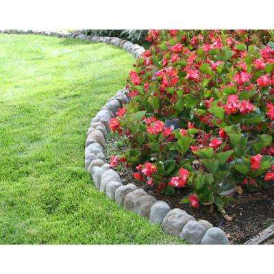 Edgestone 4 in. x 12 in. x 3 in. Multi-Colored Concrete Overlapping RIVER ROCK Edging (10-Pack)