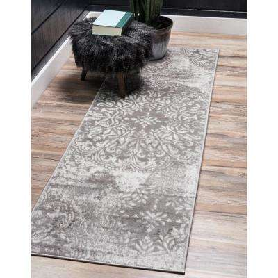 Sofia Grand Light Gray 3' 3 x 16' 5 Runner Rug