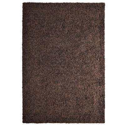 Comfort Shag Chocolate 8 ft. x 10 ft. Area Rug