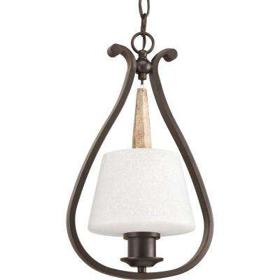 Club Collection 1-Light Antique Bronze Mini Pendant