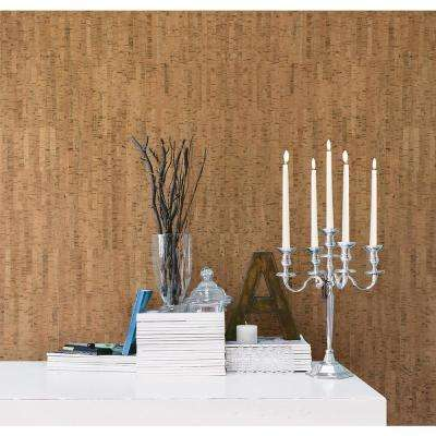 Misha Brown Wall Cork Wallpaper Sample