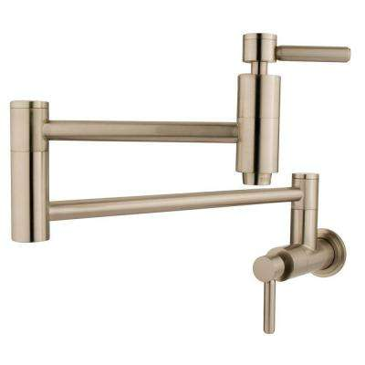 Wall-Mounted Potfiller in Satin Nickel