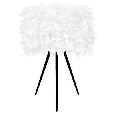 21.5 in. White Feather Table Lamp