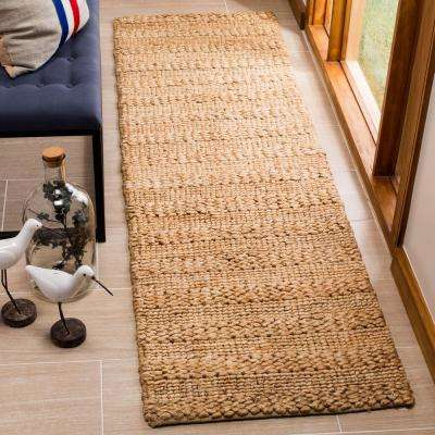 Natural Fiber Tan 2 ft. 3 in. x 8 ft. Indoor Runner Rug
