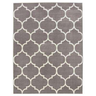 Contemporary Moroccan Trellis Grey 7 ft. 10 in. x 9 ft. 10 in. Area Rug