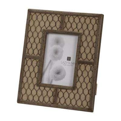 Canvas Wire 1-Opening 4 in. x 6 in. Wood and Wire Picture Frame