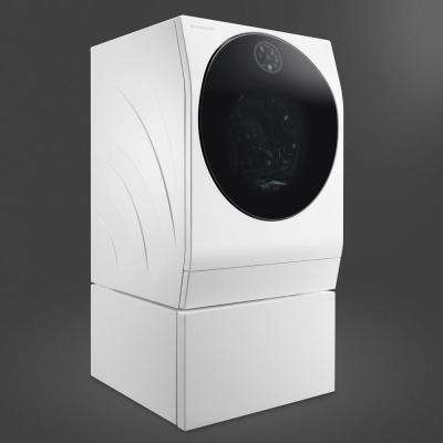 2.8 cu. ft. Compact Smart All-in-One Front Load Washer and Electric Ventless Dryer with Pedestal Compatibility in White