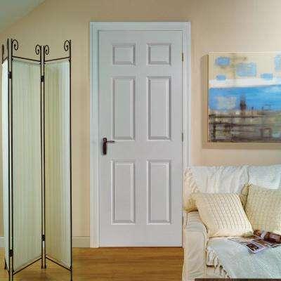 30 in. x 80 in. Solidoor Smooth 6-Panel Solid Core Primed Composite Interior Door Slab