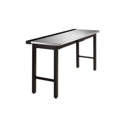 36 in. H x 24 in. D x 72 in. W Metal Workbench with Stainless Steel Top