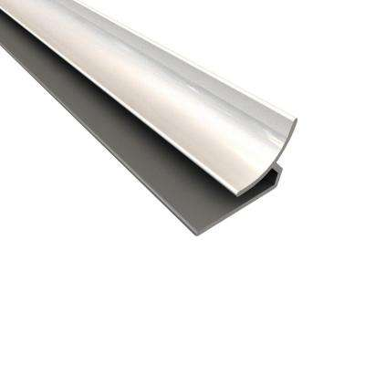 4 ft. Large Profile Inside Corner Trim in Gloss White