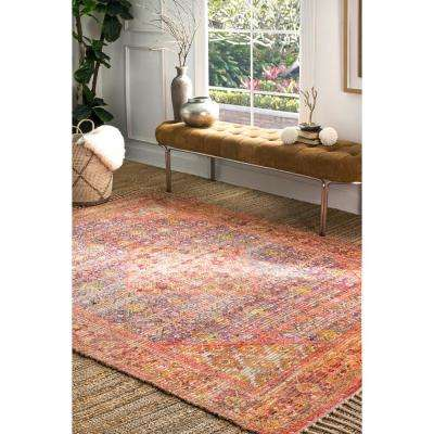 Nicole Tassel Orange 7 ft. 6 in. x 9 ft. 6 in. Area Rug