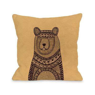 Bear Sweater 16 in. x 16 in. Decorative Pillow