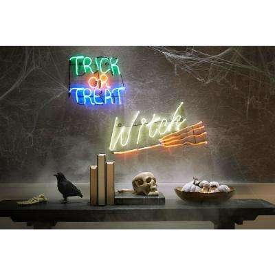 14 in. Neon Trick or Treat LED Halloween Sign