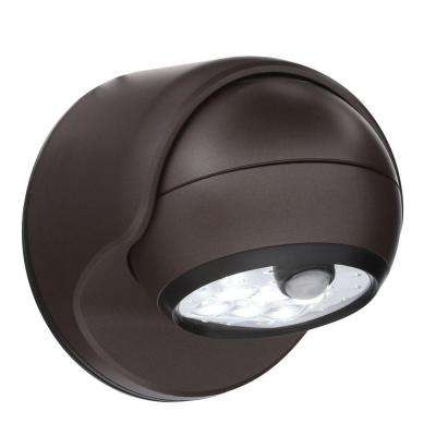 Bronze 6-LED Wireless Motion-Activated Weatherproof Porch Light