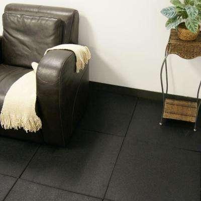 Eco-Sport 3/4 in. x 20 in. x 20 in. Coal Interlocking Rubber Tiles (5-Pack, 14 sq. ft.)