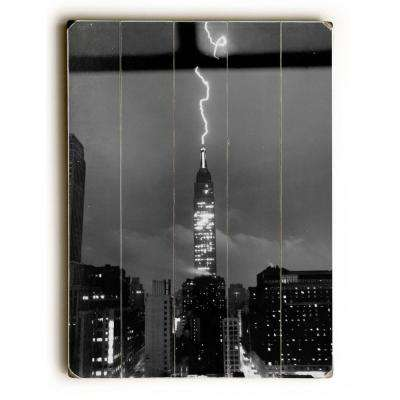"18 in. x 24 in. ""New York City, July 9, 1945, LIGHTNING by Underwood Photo Archive ""Planked Wood"" Wall Art"