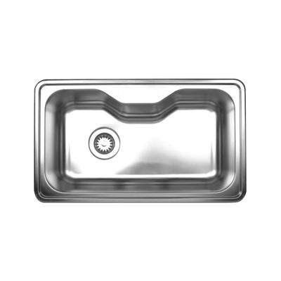 Noah's Collection Drop-In Stainless Steel 33-1/2 in. Single Bowl Kitchen Sink in Brushed Stainless Steel
