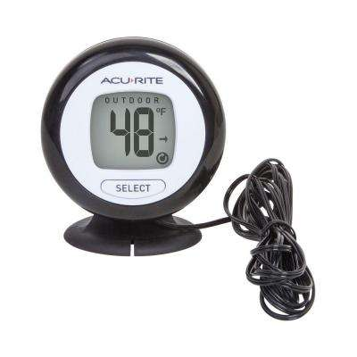 Digital Thermometer with 10 ft. Temperature Sensor Probe and Humidity
