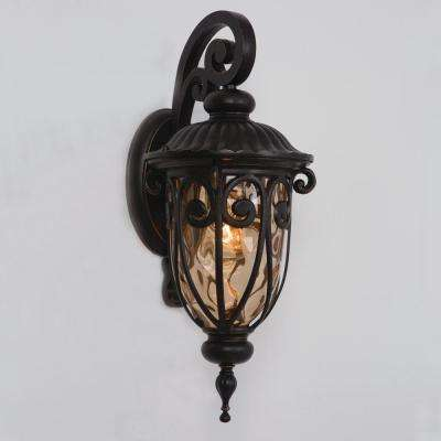 Viviana Collection 1-Light Oil-Rubbed Bronze Outdoor Wall-Mount Lamp