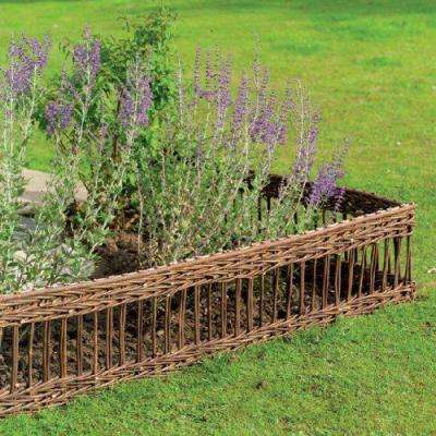 4 ft. Woven Willow Edging with Vertical Cross Sections Pattern