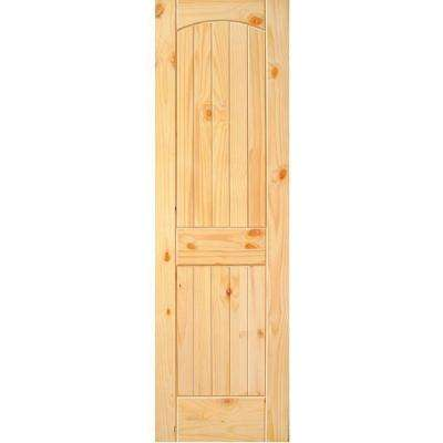 Superieur 2 Panel Arch Top V Grooved Solid Core Knotty Pine Single Prehung Interior  Door