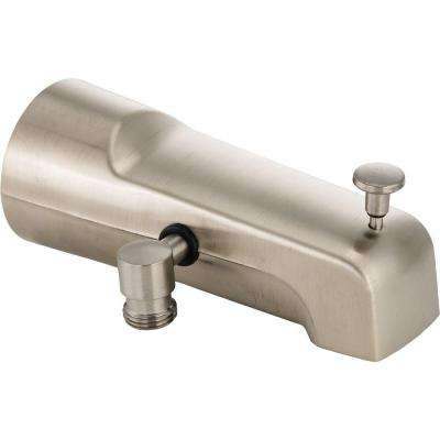 Pull-Up Diverter Tub Spout in Stainless