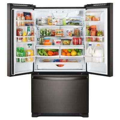 20 cu. ft. French Door Refrigerator in Fingerprint Resistant Black Stainless with Internal Water Dispenser Counter Depth