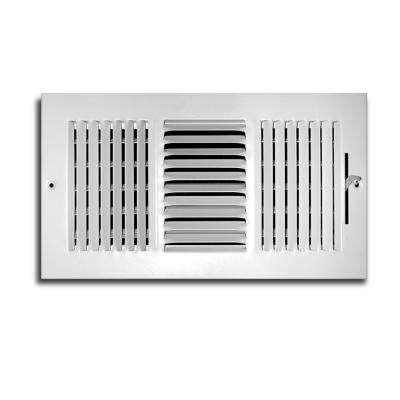 14 in. x 6 in. 3 Way Wall/Ceiling Register