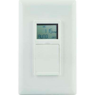 Digital In-Wall 3-Way Daylight Adjusting Timer with Screw Terminals