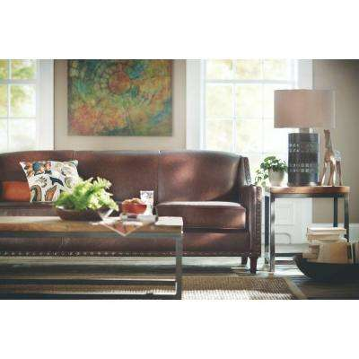 Rockford Brown Leather Sofa