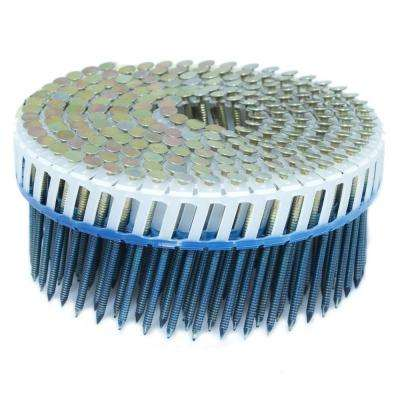 2 in. x 0.092 in. 15-Degree Ring Galvanized Plastic Sheet Coil Siding Nail 800 per Box