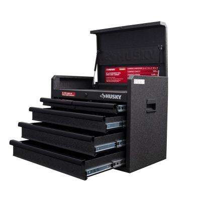 26 in. 5-Drawer Top Chest in Textured Black