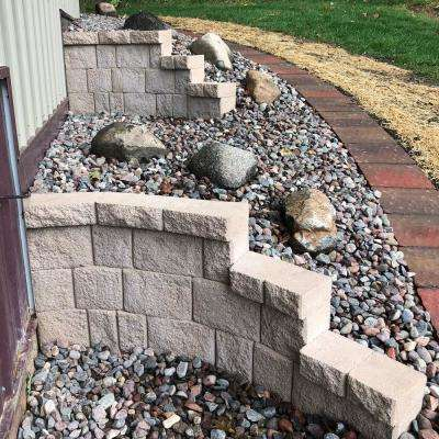 31.5 in. H x 6 in. D Brown Fiberglass Landscape Retaining Wall Right Curve Panel (1-Piece)