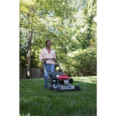 21 in. 3-in-1 Variable Speed Gas Walk Behind Self Propelled Lawn Mower with Blade Stop