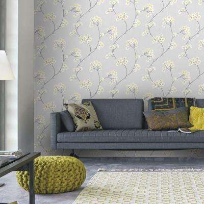 Grey And Ochre Radiance Removable Wallpaper Grey And Ochre Radiance Removable Wallpaper