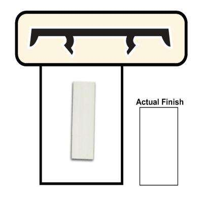1-1/2 in. White Porch Screening System Cap