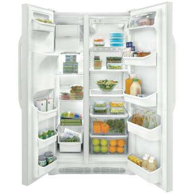 25.54 cu. ft. Side by Side Refrigerator in Pearl