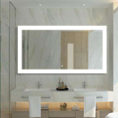 30 in. x 57 in. Frameless LED Lighted Bathroom Mirror