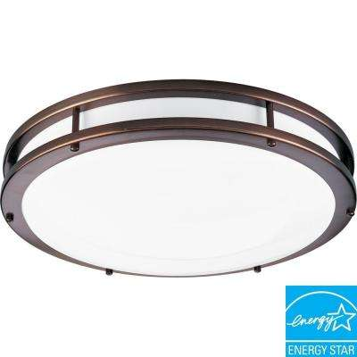 2-Light Urban Bronze Fluorescent Fixture