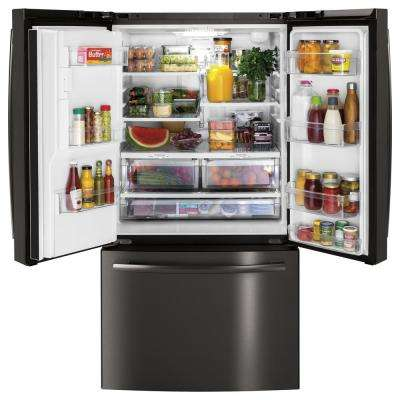 25.6 cu. ft. French-Door Refrigerator in Black Stainless Steel, Fingerprint Resistant and ENERGY STAR