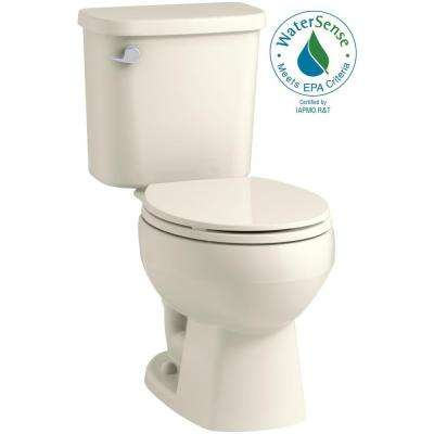 Windham 2-piece 1.28 GPF Single Flush Round Toilet in Biscuit