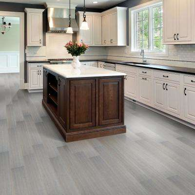 Brushed HS Strand Woven Sterling 7mm T x 5.2 in. W x 36.22 in. L Click Water Resistant Bamboo Flooring(13.07 sq.ft/case)