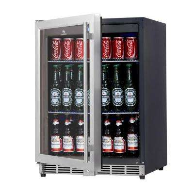 Single Zone 23.42 in. 160 (12 oz.) Stainless Steel Beverage Can Cooler