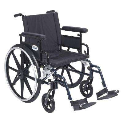 Viper Plus GT 20 in. Wheelchair with Removable Flip Back Adjustable Arms, Adjustable Full Arms and Swing Away Footrests
