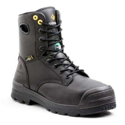Paladin Men's Black Leather Work Boot